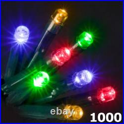 1000 LED Super Bright Multicoloured Christmas Chaser Light 8 Mode Outdoor Indoor