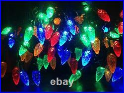 100 LED Multicolour Pine Cone Christmas Lights/8 Multi-Function/Indoor/Outdoor
