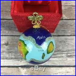 10 Pier 1 Imports Li Bien Christmas Ornaments Glass Hand Painted Collectible