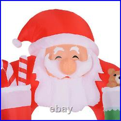 11' Christmas Inflatable Archway Indoor Outdoor Decoration Santa Claus