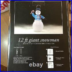 12 Foot Giant Snowman Indoor/Outdoor Yard/Home Christmas Decor New In Box