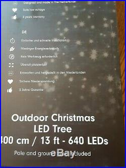 13 ft Outdoor Christmas Tree with 640 Multicolored LED Lights Holiday Decor
