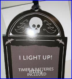 13th & Elm HUGE 18 Halloween Ceramic Spooky Led Light Up Ghost Decor Timer NWT