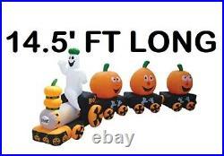 14'ft Halloween Train Airblown Inflatable Lighted Yard Decor