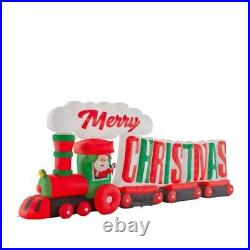 16 ft. Inflatable Merry Christmas Santa Train Colossal Lighted Yard Decoration