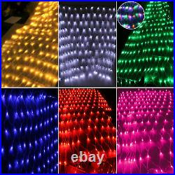 180360 LED String Fairy Chaser Lights Net Mesh Curtain Xmas Party Wedding Timer