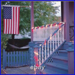 18' Red, White and Blue Rope Light for Memorial Day and Patriotic Parties