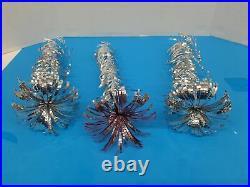 1961 Evergleam 4FT Aluminum Silver X-Mas Tree 58 Branch Pom Pom Nice Boxed X1