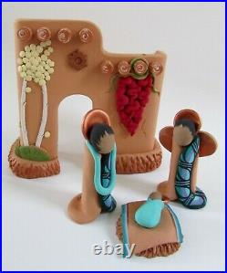 1983 April Romo de Vivar Tucson Southwest Adobe Native Nativity Set 1947-2012