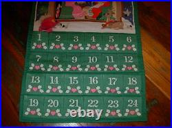1987 AVON Advent Calendar with Pink Mouse MIssing Original Mouse