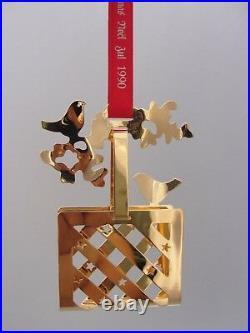 1990 Georg Jensen Christmas Decoration Mobile Bird Basket