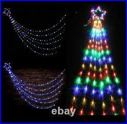 200 Led Waterfall Star Super Bright Light Christmas Xmas Window Wall 3m Length
