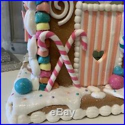 2020 Sugar Plum Iced Light Up Polydough House Gingerbread Sweet Christmas LED