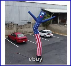 20' Tall Air Blown Inflatable Patriotic Tube Man Air Powered Waving Puppet