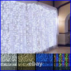 240 LEDs Curtain Lights String Fairy Window Net Wedding Party Xmas 1.5 x 2m UK