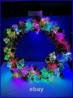 24 FIBER OPTIC Christmas WREATH LED 180 Degrees EM2040 COLOR CHANGING NEW WoW