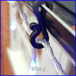 25 x Gutter Hooks Clips Outdoor Christmas Xmas Icicle Fairy Lights Plastic Black
