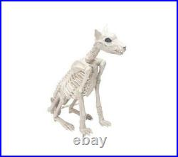 29 Tall Spooky Skeleton Dog Statue Fun Halloween Indoor Outdoor Holiday Decor