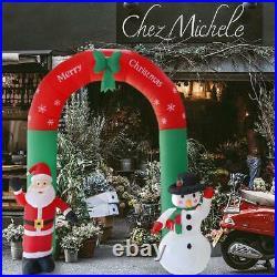 2.4m Inflatable Arch Santa Claus Snowman Christmas Ornaments Xmas Decoration UK