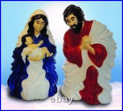 2 Piece Nativity Set Classic Joseph & Mary Holding Baby Jesus Home Holiday Decor