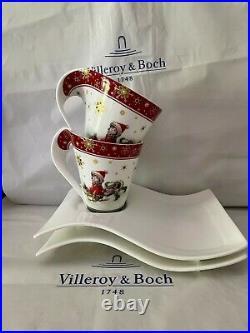 2 Villeroy & Boch New Wave Kaffe Christmas Weihnachten edition RARITAT
