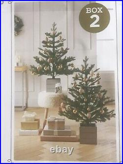 2pk 3ft Pre-lit Artificial Christmas Tree Potted Balsam Fir Clear Lights Target