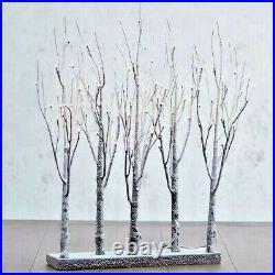 30 CHRISTMAS Warm White LED LIGHTED TREE GROVE Steady Twinkle RAZ 3800926 NEW
