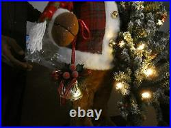 30 electric traditional Standing Reindeer with Christmas tree light Music