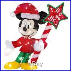 31 Lighted Disney Mickey Mouse Sculpture Pre Lit Outdoor Christmas Decor Yard