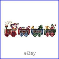 36 Lighted Merry Christmas Train Sign with Control Box Multicolored Light Decor