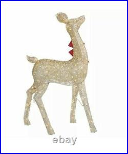 37in (96cm) Indoor / Outdoor Christmas Reindeer Family Set of 3 with LED Lights