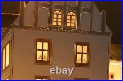 3D-Schwibbogen 72cm Schloß-Weihnacht verschneit Schwarzenberg Erzgebirge +Gratis