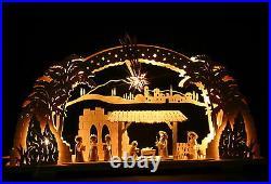 3D-Schwibbogen 72cm groß Bethlehem mit Ulmik Krippe Christi Geburt Erzgebirge