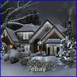 3.9m 200 Led Battery Operated Snowing Effect Icicle Lights Xmas Christmas Party