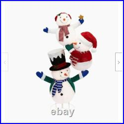 3 Lighted Snowman Sculpture Outdoor Christmas Yard Decor Lawn Display Holiday
