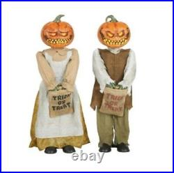 3 Rotten Patch Animated LED Pumpkin Twins 2021 Home Depot Halloween Release