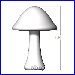 3m Full Printing Colored Giant Inflatable Mushroom for Theme Park, Event