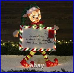 40 Lighted Santa's Helper Elf Sculpture Outdoor Christmas Yard Decor Lawn