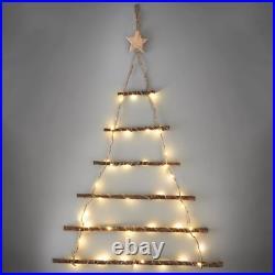 40 Warm White Led Lights Wall Hanging Christmas Twig Tree Xmas Decoration -64cm