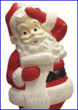 43 Lighted Classic Jolly Santa Blow Mold Fun Christmas Porch Yard Holiday Decor