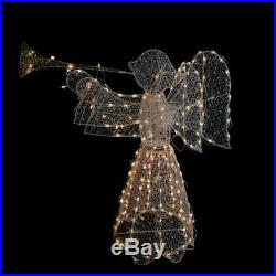 44 LIGHTED 3-D NATIVITY ANGEL with HORN OUTDOOR CHRISTMAS Yard Decoration