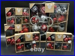 47 Teile Disney Mickey Minnie Mouse Deko Kugel Weihnachtskugel Anhänger Baum ROT