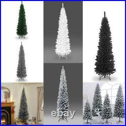 4Ft-8Ft Best Quality Artificial Slim Christmas Pencil Tips Tree Xmas Home Decor