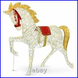 4Ft Tall Led Lighted Outdoor Indoor Christmas Unicorn Yard Decoration Display