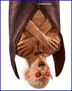 4.8 Ft Lord Dakhanavar Vampire Animatronic Bat Yard Decor Haunted House Prop
