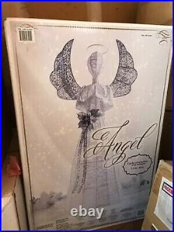 4 Ft Life Size White/silver Guardian Angel Holiday Indoor/outdoor Decor