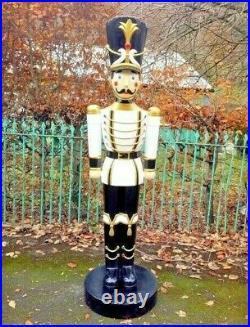 4-ft TOY SOLDIER with TRUMPET Figure Statue Sculpture CHRISTMAS NUTCRACKER