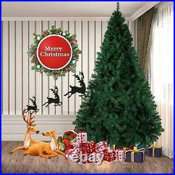 4ft-12ft Artificial Bushy Green Christmas Tree Metal Stand Pine Xmas Decorations