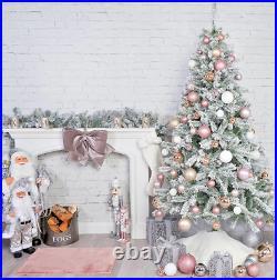 4ft/6ft/7ft Pencil / Snowey/4ft Pre Lit F/O Green Artificial Christmas Tree