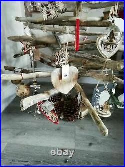 4ft Driftwood Christmas Tree, Plastic Free, Packable, 100% Natural Xmas
